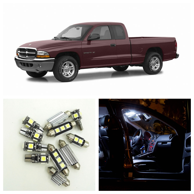 11pcs Canbus Xenon White Car LED Light Bulbs Interior Package Kit For 2002 2003 2004 Dodge Dakota Map Dome License Plate Lamp 1pair canbus free led car license plate light number plate lamp for opel vectra c estate 2002 2003 2004 2005 2006 2007 2008