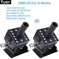 2 шт./лот 12X3 Вт 3IN1 светодиодный CO2 ткацкий станок светодиодный специальный эффект Co2 пушки Крио Джет вечерние Stage диско DJ оборудование Бесплат