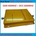 DCS Repetidor GSM Dual Band Cell Phone Signal Booster 900 MHz 1800 MHz 65db Ganho Repetidor GSM Amplificador