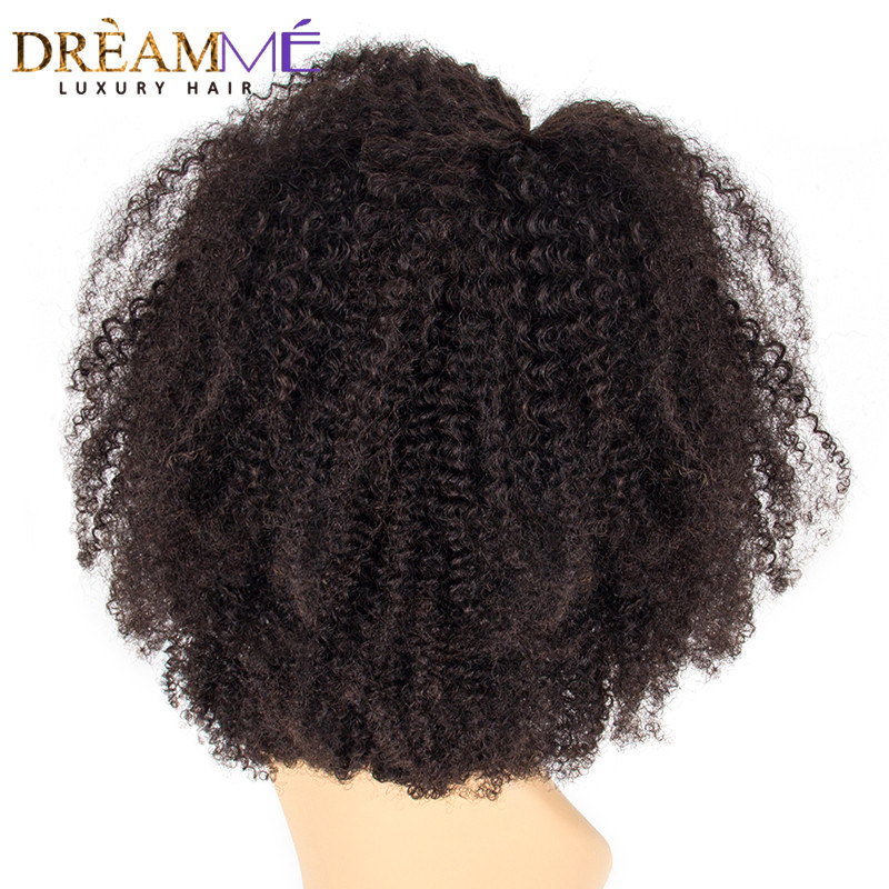 13x6 Lace Front Human Hair Wigs With Baby Hair 150 Density Mongolian Afro Kinky Curly Lace