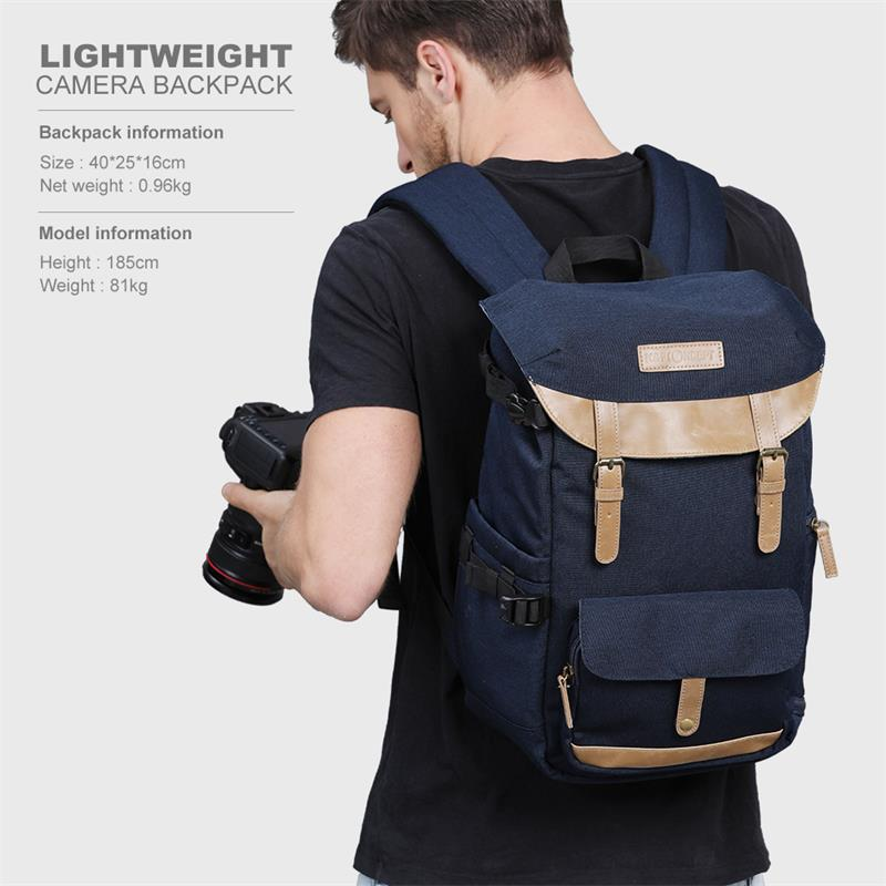 K F CONCEPT Multifunctional Camera Backpack Fashionable Photo Video Bag Case With Large Capacity For Canon