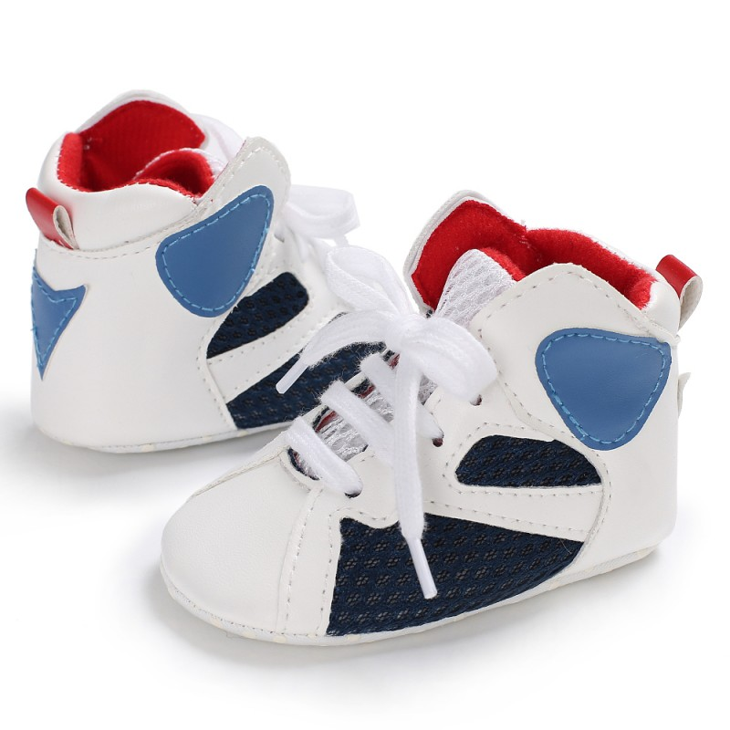 First Walkers Baby Kids High Top Casual Shoes Newborn Soft Toddler Shoes Fashion For 0-18M