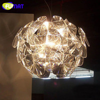 Nordic Bedroom Dinning Room Clear Pendant Lamp Creative Clothes Store Decoration Light Bar Simple Acrylic Hope Pendant Light