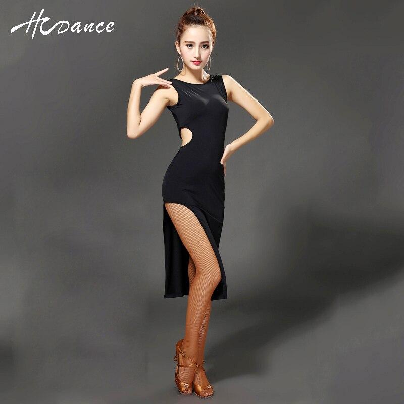 New Brand 2 Color V-Back Latin Dance Costume Women Tango Dress Samba Costume Ballroom Dance Competition Dancewear Hcdance A325