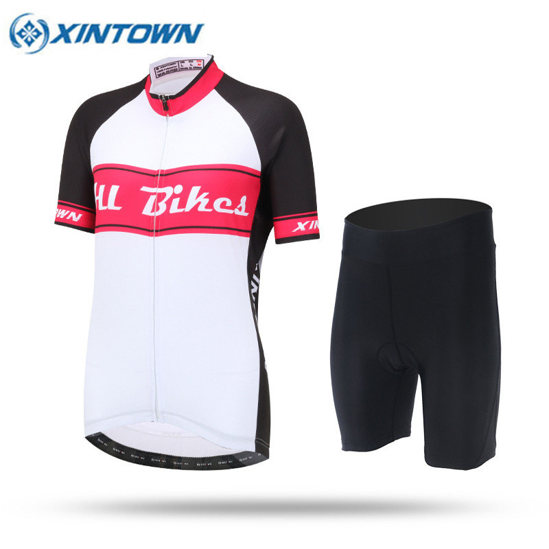 Women Cycling Jersey Short Sleeve Jersey Rose Red Bike Bicycle Clothing Spring Summer Autumn Breathable Cycle Wear Shirt women s cycling shorts cycling mountain bike cycling equipment female spring autumn breathable wicking silicone skirt