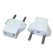 2pcs New CN US To EU Euro Europe Plug Adapter 2 Round Socket Converter Travel Electrical Power Adapter Socket China To EU Plug