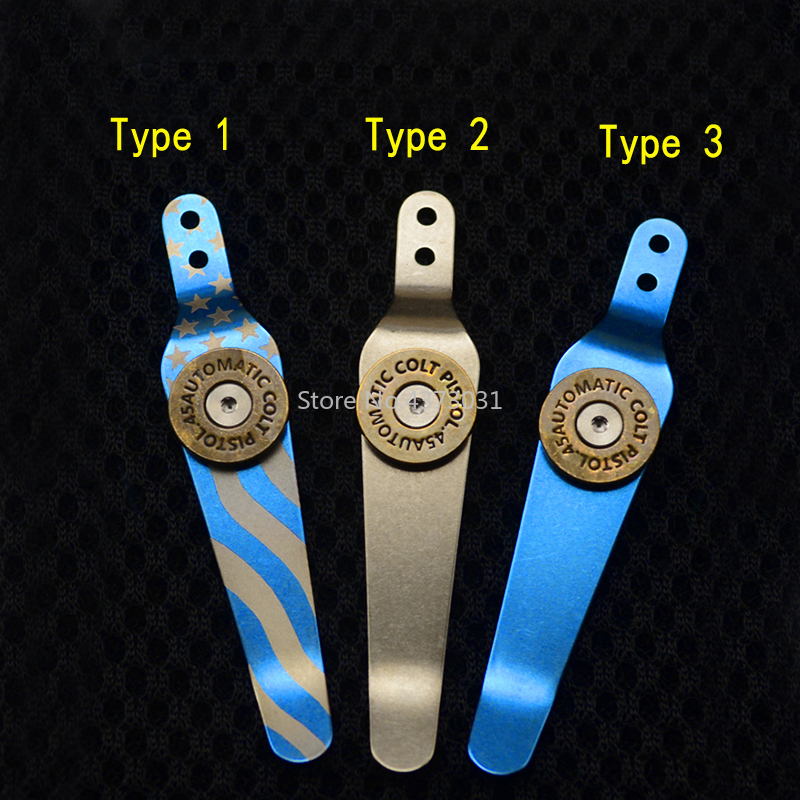 New Arrival Titanium Alloy Pocket Knife Clip For Hinder XM18/24 Knife And ZT Series Back Clip