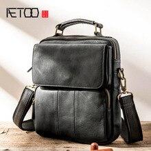AETOO Mens Genuine Leather Bag Crossbody Bags for Men Messenger Shoulder Male Handbags