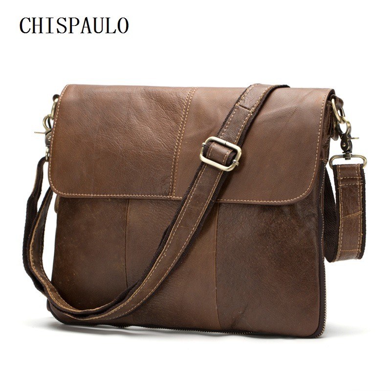 CHISPAULO Guaranteed 100% Genuine Leather Casual cross body bags for men tote shoulder laptop men's travel bag crocodile T664 guaranteed 100% natural genuine leather men bag shoulder tote leather men travel bags men s bags handbags large size