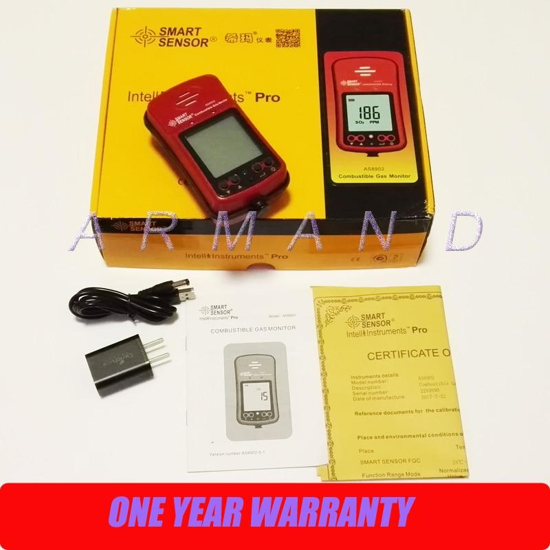 """Nešiojamasis degių dujų nuotėkio aptikimo detektorius """"Smart Sensor AS8902"""" 0–100% LEL garso signalo aliarmas"""