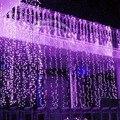 10 М x 3 М LED Твинкл Освещения 1000LED Рождество Строка Фея Свадебное Занавес фоне Открытый Партии Рождественские Огни 110 В 220 В