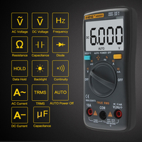 AN8001 Backlight Digital Multimeter AC/DC Voltage Current Tester Ohm Voltmeter Diode Meter Ammeter