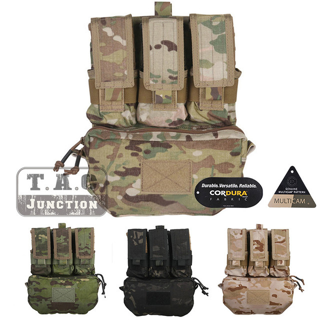 Emerson Tactical MOLLE Assault Pack Panel EmersonGear Plate Carrier Bag  BackPack w  M4 M16 Magazine Pouch for CPC NCPC AVS Vest 8b20fc2fee12a