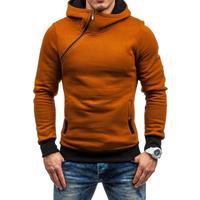 Mens Hoodies 2018 New Brand Sweatshirts Men Oblique Zipper Tracksuit Sweatshirts Male High Grade Coat Plus