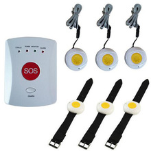 Auto-Dialer-Alarm-System SOS GSM Wireless with 6-Panic-Buttons Handicapped/medical-Care