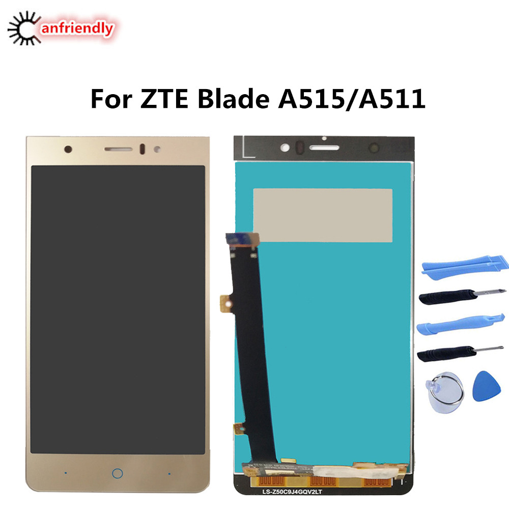 For ZTE Blade A515 A511 5.0 LCD Display+Touch Screen Replacement Digitizer Assembly For ZTE Blade A 515 511 Phone Repair lcds