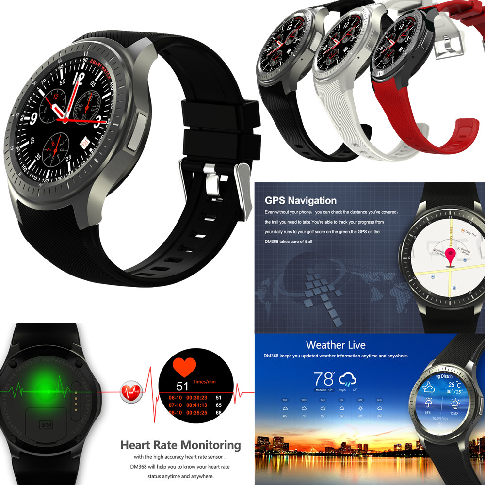Android 5.1 8GB BT Google Voice GPS SIM Camera Heart Rate 3G WIFI Internet surf Smart Watch samsung sm t231nykaser 7 1024mb 8gb 3g gps wifi bt android 4 2 black