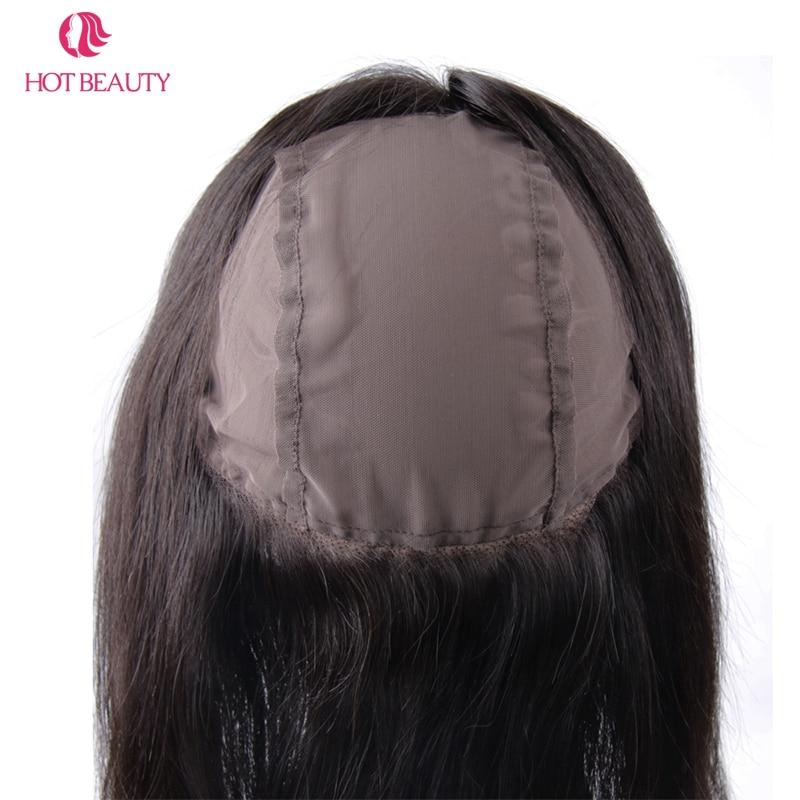Chaude Beauté Cheveux Cheveux Raides Péruvien 360 Dentelle Frontale - Cheveux humains (noir) - Photo 5