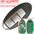 3 Buttons Smart Remote Key For Nissan 2014 X-Trail 433MHZ With Logo