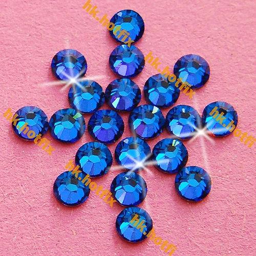 ss7 GENUINE Swarovski Elements CapriBlue ( 243 ) 720 pcs 7ss ( NO hotfix Rhinestone ) Round Crystal   2058 FLATBACK