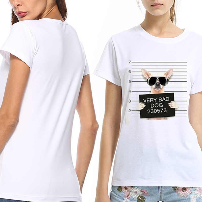 ฤดูร้อน T เสื้อผู้หญิง Harajuku Very Bad สุนัขตลกพิมพ์เสื้อแขนสั้นหญิงเสื้อยืดลำลอง Femme เสื้อผ้า camiseta mujer
