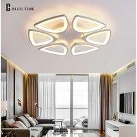 Большая гостиная Современная светодио дный Светодиодная потолочная лампа для светодио дный дома Спальня светодиодные люстры акриловая Лю