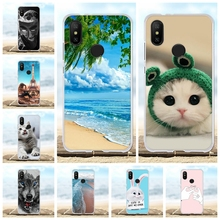 For Xiaomi Mi A2 6X Case Ultra-thin Soft TPU Silicone Cover Beach Patterned Coque Funda