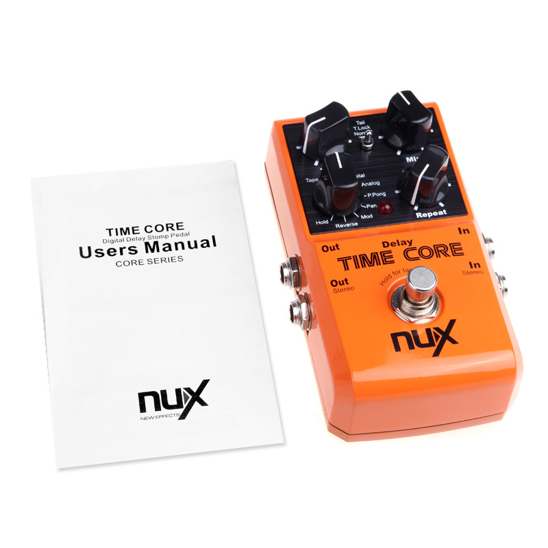 ФОТО NUX Time Core Effect Electric Effect Pedal 7 Effects Tone Lock Setting Instantly True Bypass Orange Free Shipping