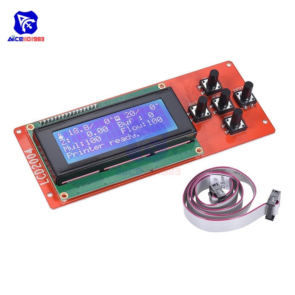 Diymore 2004 LCD Display Screen Controller Module JTAG Cable For RAMPS 1.4 Arduino Mega Pololu Shield Arduino Reprap 3D Printer