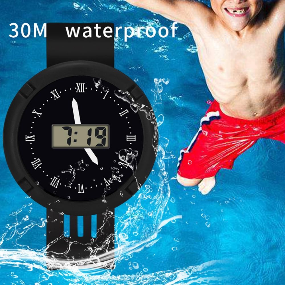 Montre Wrist-Watch Digital Girls Electronic Waterproof Children Sport New Analog LED