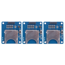 3pcs 3.3V/5V SD/TF Card Slots 2in1 Dual Card Reader Storage Module Board Card Reader Developing Board for Arduino