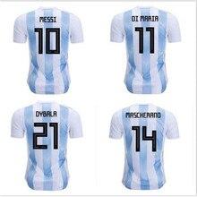 2fe5cfaad1a 2018 adults T-shirt Camisa Argentina shirt 2018 2019 men shirts Best  Quality adult Messi DI MARIA Casual T-shirt free shipping