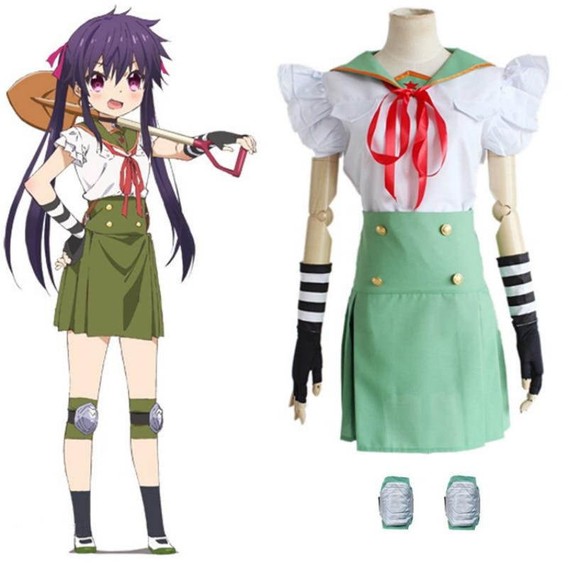 Anime Cosplay for Hickory Gakkou Gurashi Island School Uniform Girl and Wigs Japanese Vestidos Costume Halloween Carnaval Party