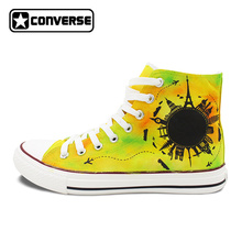 Sneakers Men Women Converse All Star Original Hand Painted Shoes Design Travel World Famous Landmark Stylish