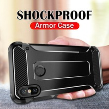 Original Shockproof Armor Case For Xiaomi Redmi Note 7 5 Pro 4X 4 X Hybrid Rubber Silicone Protective Cover Hard PC Phone Cases