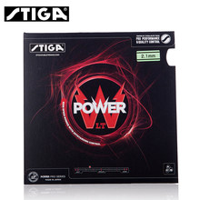 100% original stiga POWER LT Table Tennis PingPong Rubber With high elastic Sponge Pimples In black and red(China)