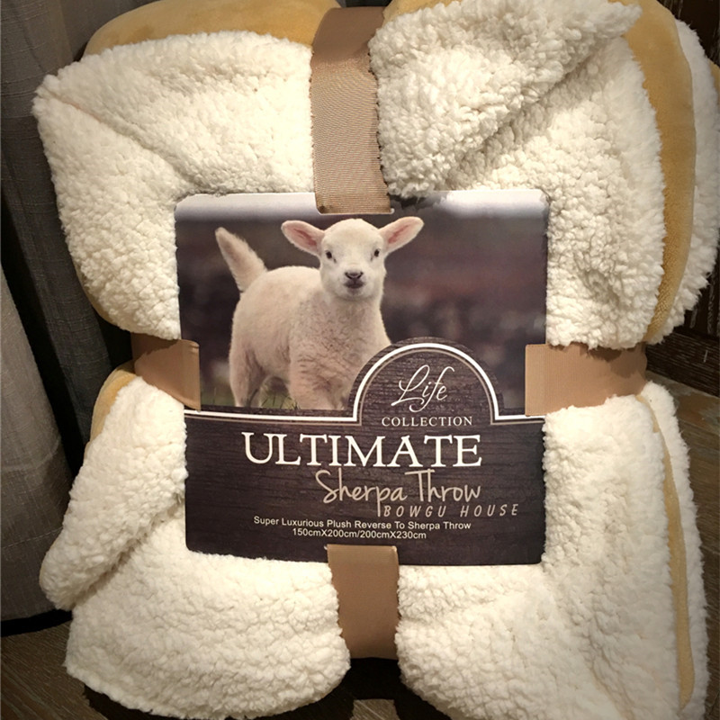Low Key Camel S Pure Lamb Wool Warm Thick Throw Blanket