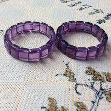 natural amethyst stone beads bracelet gemstone DIY jewelry for woman birthstone of Sagittarius Aquarius !