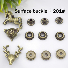 10set/Pack Metal Press Studs Sewing Button Snap Fasteners Leather Craft Clothes Bags #201