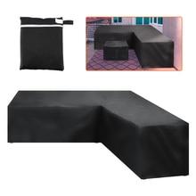 Meble ogrodowe rattanowe narożne pokrycie zewnętrzne V kształt wodoodporna Sofa Protect Set pokrowce na sofy pokrowiec na meble ogrodowe
