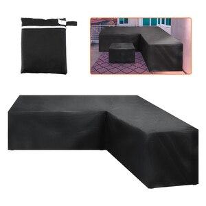 Image 1 - גן ראטאן פינת ריהוט כיסוי חיצוני V צורת ספה עמיד למים להגן על סט ספה מכסה מגן רהיטים גן Suply