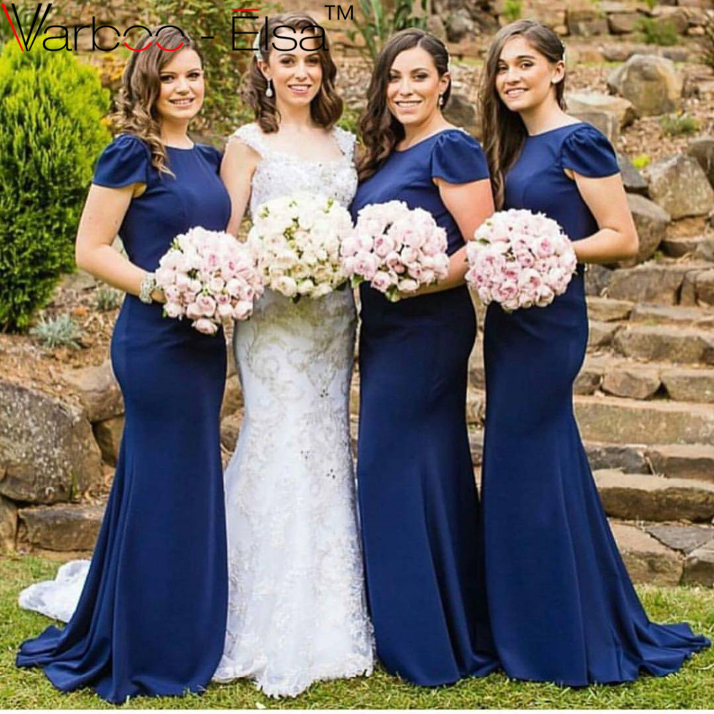Online get cheap royal blue bridesmaid mermaid dress aliexpress elegant royal blue bridesmaid dresses long mermaid bridesmaid dresses 2016 zipper back sweep train chiffon party ombrellifo Images