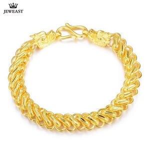 Bracelet Fine-Jewelry Gold Bangle Solid New 24K Classic Men Real-999 Faucet Generous
