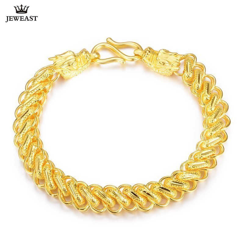50268c376 24K Pure Gold Bracelet Real 999 Solid Gold Bangle Generous Rich Men's  Faucet Ouch Trendy Classic