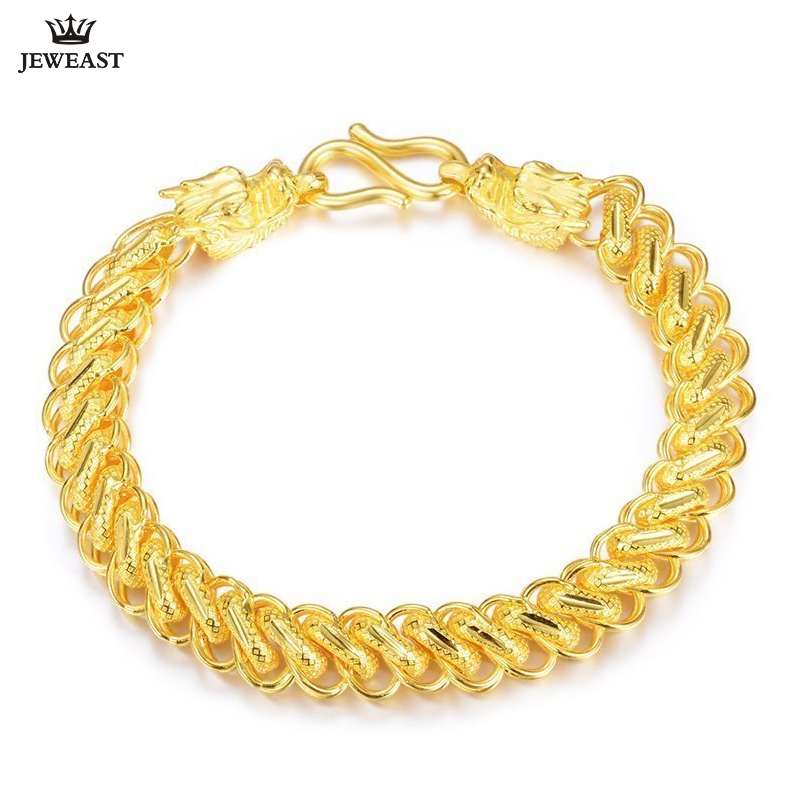 ZSFH 24K Pure Gold Bracelet Real 999 Solid Gold Bangle Generous Rich Men's Faucet Trendy Classic Fine Jewelry Hot Sell New 2020