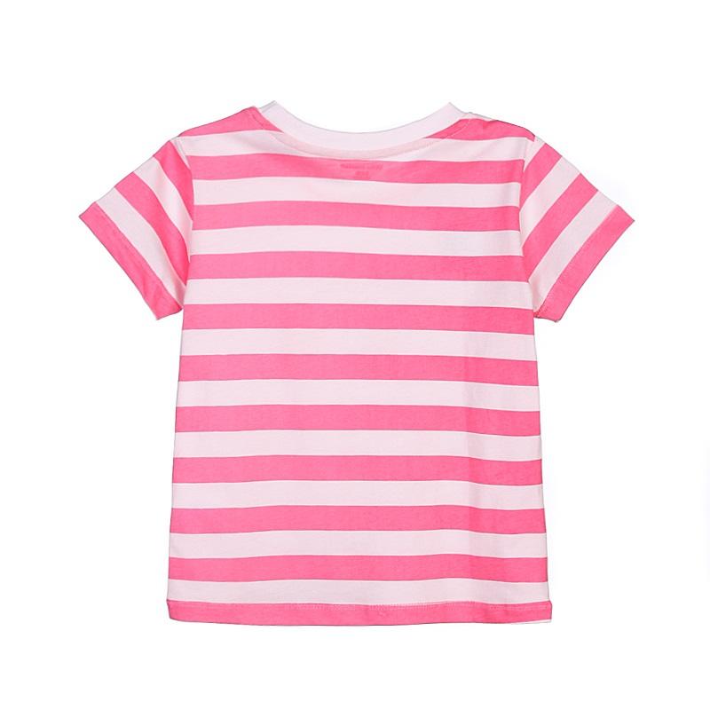 17 New Little Maven 1-6 Years Girls T-shirt Short Sleeve Animal Printing Children Tees Rabbit Cat Printing Kids Tops KF046-1 9