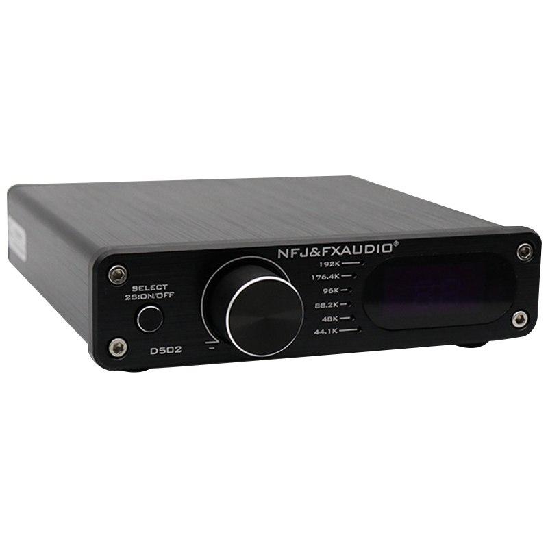 FX-Audio D502 Pure Digital Amplifier 2.1 Subwoofer Integrated Home HIFI Decoding Amplifier Headphone DAC AMP a pure dsd hd decoding amp tube hybrid headphone amplifier a little dot audio free shipping