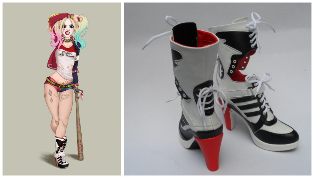 c3eeda56f0a2 New Anime Shoes Batman Suicide Squad Harley Quinn Cosplay Boots High  Quality Customized