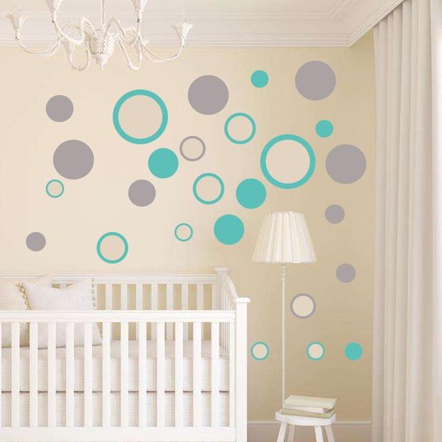 Dots Wall Sticker Baby Nursery Polka Dot Wall Decal Kids Room Decor ...