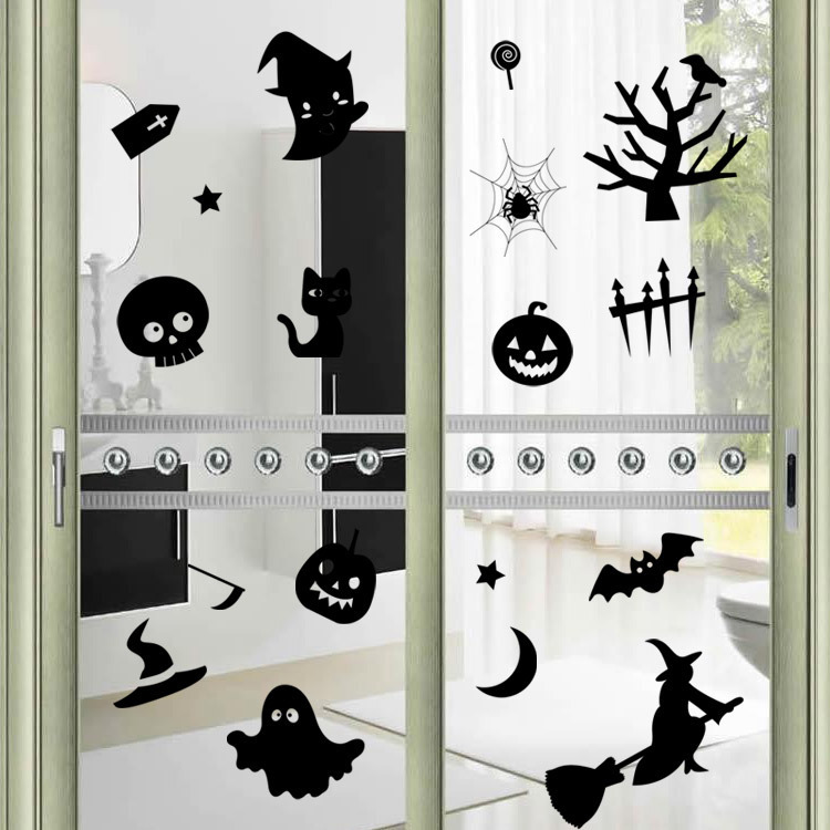 Achetez en gros halloween fen tre autocollants en ligne for Decoration fenetre halloween